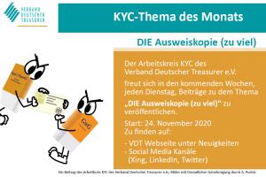 KYC Thema des Monats Ausweiskopie Start